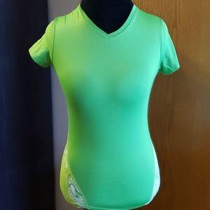 Reebok green marbled running shirt